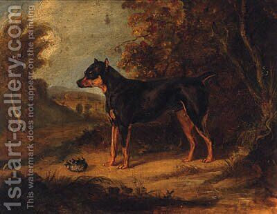 A Black And Tan Terrier by (after) Ramsay Richard Reinagle - Reproduction Oil Painting