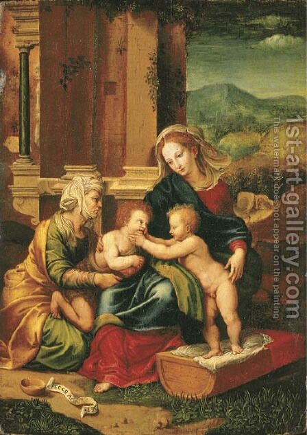 The Holy Family by (after) Raphael (Raffaello Sanzio of Urbino) - Reproduction Oil Painting