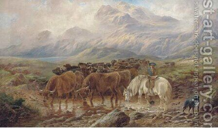 In the West Highlands by (after) Richard Ansdell - Reproduction Oil Painting