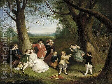 The swing by (after) Robert George Talbot Kelly - Reproduction Oil Painting