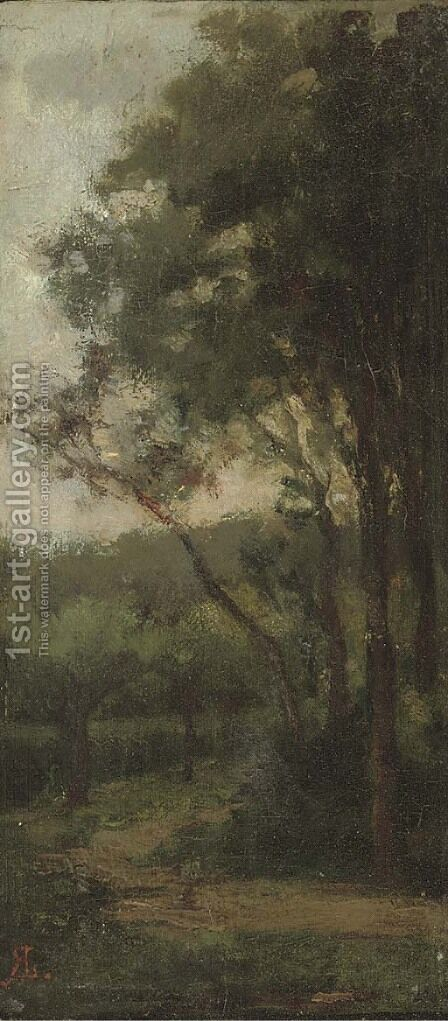 A woodland track by (after) Robert Labrooke - Reproduction Oil Painting
