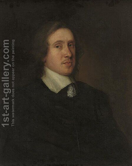 Portrait of Sir Harry Vane (the younger) by (after) Robert Walker - Reproduction Oil Painting