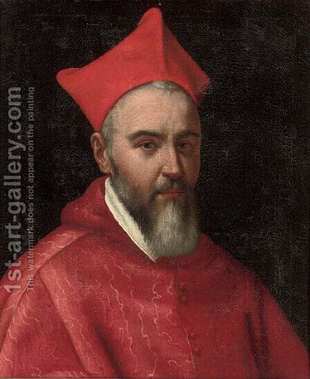 Portrait of a Cardinal by (after) Scipione Pulzone - Reproduction Oil Painting