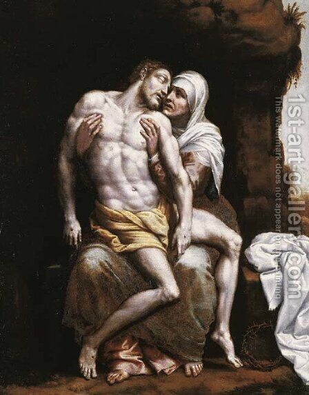 The Pieta by (after) Scipione Pulzone - Reproduction Oil Painting