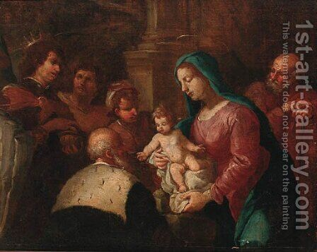 The Adoration of the Magi by (after) Sebastiano Ricci - Reproduction Oil Painting