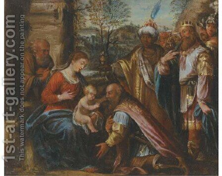 The Adoration of the Magi by (after) Simon De Vos - Reproduction Oil Painting