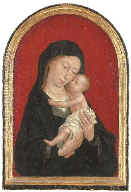 The Virgin and Child by (after) Simon Marmion - Reproduction Oil Painting