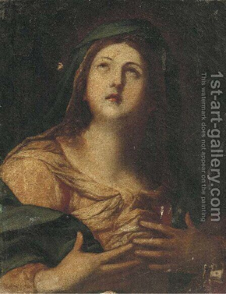 The Penitent Magdalen by (after) Simone Pignoni - Reproduction Oil Painting