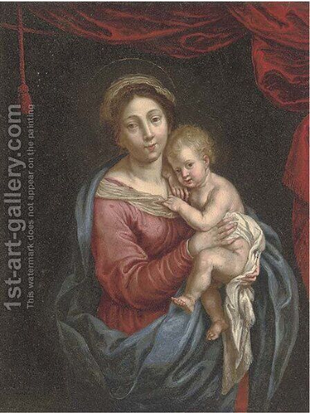 The Virgin and Child by (after) Dyck, Sir Anthony van - Reproduction Oil Painting