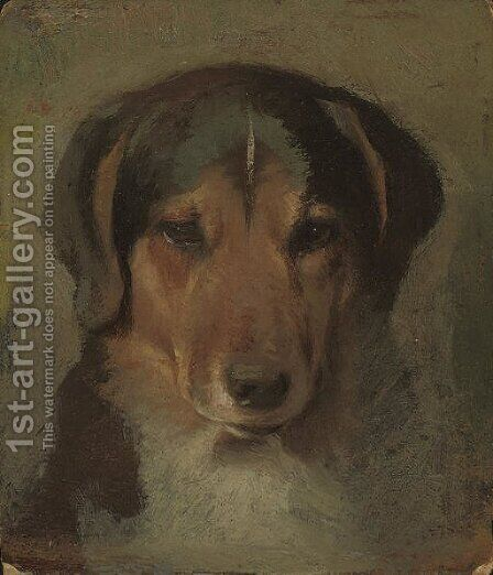 A faithful friend by (after) Sir Edwin Henry Landseer - Reproduction Oil Painting