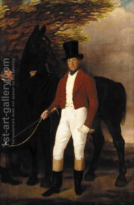 Portrait of a Lewis Adams of Watlands, Wolstanton, Staffordshire (1808-1850) by (after) Sir Francis Grant - Reproduction Oil Painting