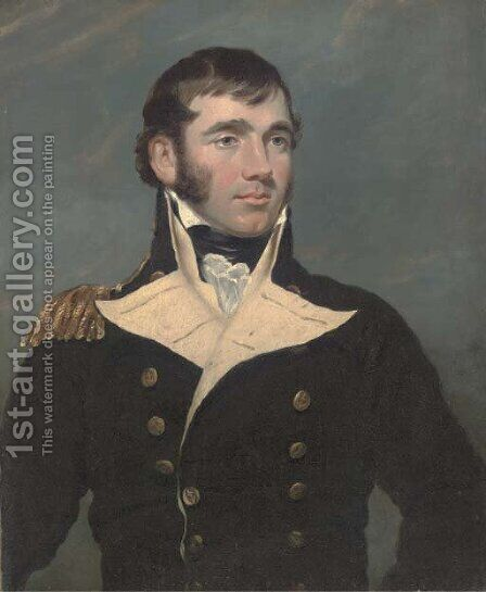 Portrait of Captain Forster by (after) Sir George Hayter - Reproduction Oil Painting