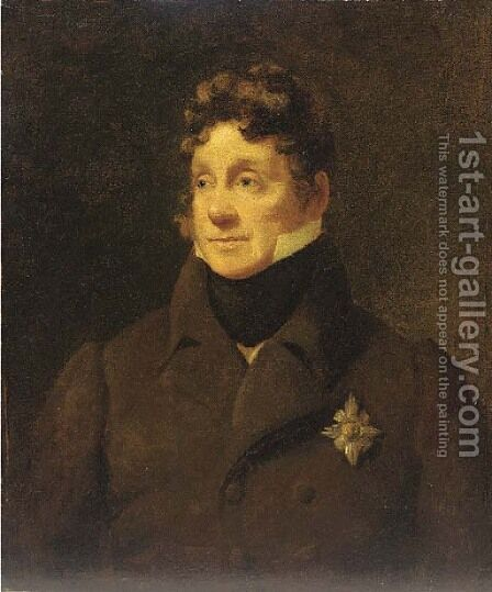 Portrait of Sir Charles Forbes by (after) Sir Henry Raeburn - Reproduction Oil Painting