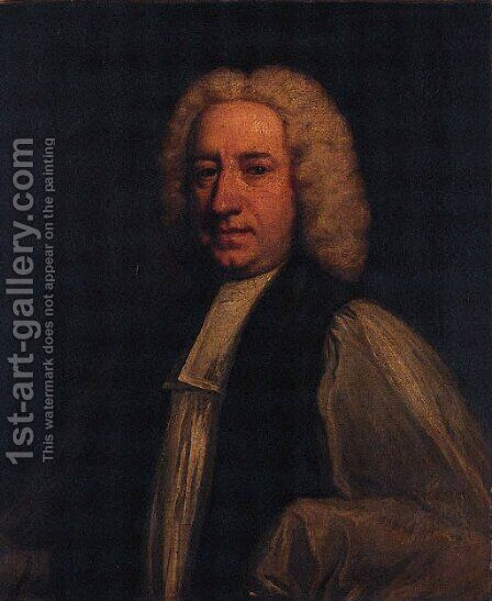 Portrait of a Gentleman, half-length, in clerical robes by (after) Sir Joshua Reynolds - Reproduction Oil Painting