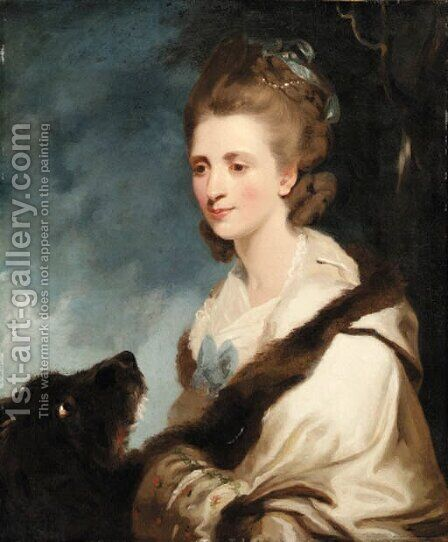 Portrait of Mrs. George Huddesford by (after) Sir Joshua Reynolds - Reproduction Oil Painting