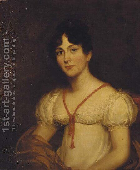 Portrait of Anne Arkwright (1796-1863), nee Wigram by (after) Sir Martin Archer Shee - Reproduction Oil Painting