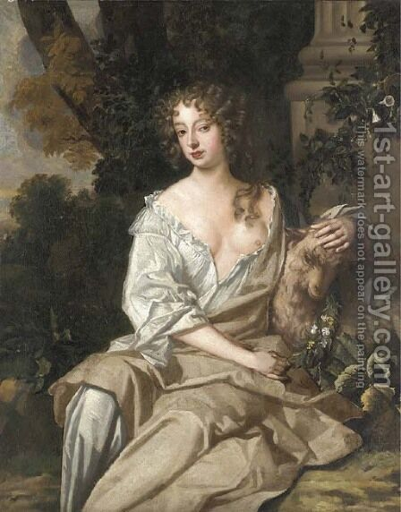 Portrait of Nell Gwyn by (after) Sir Peter Lely - Reproduction Oil Painting