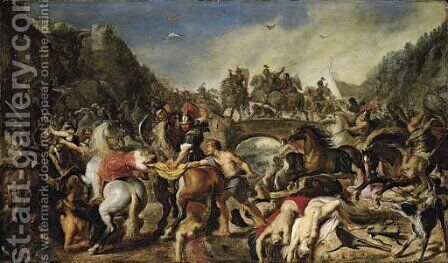 The Battle of the Amazons by (after) Sir Peter Paul Rubens - Reproduction Oil Painting