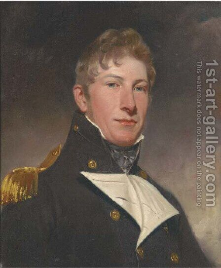 Portrait of a naval officer by (after) Sir William Beechey - Reproduction Oil Painting