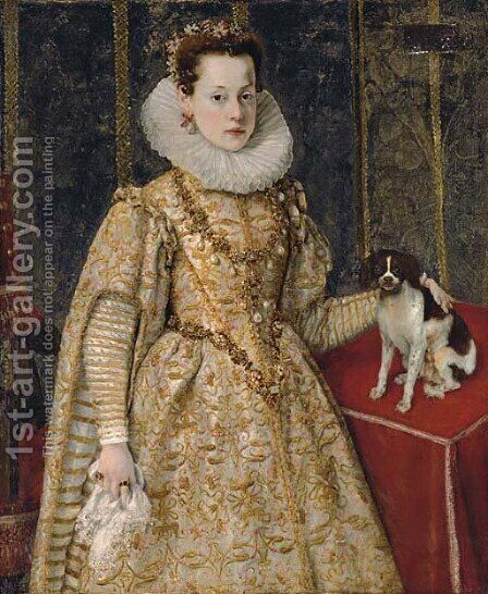 Portrait of Margherita of Savoy (1589-1655) by (after) Sofonisba Anguissola - Reproduction Oil Painting