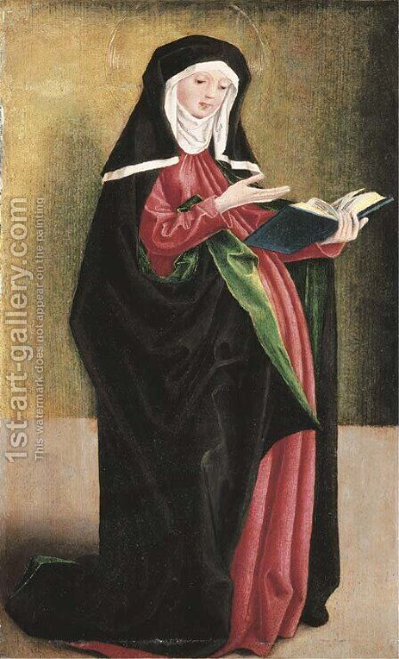 Saint Odile by (after) The Master Of The Sterzinger Altarpiece Wings - Reproduction Oil Painting