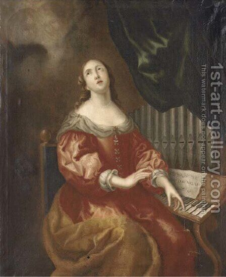Saint Cecilia by (after) Theodor Van Thulden - Reproduction Oil Painting