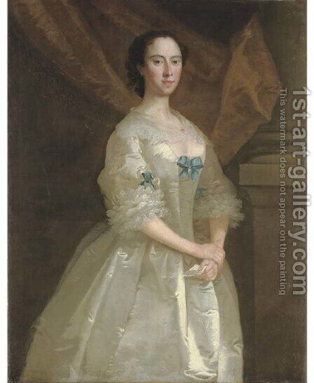 Portrait of Miss Elizabeth Purley by (after) Thomas Frye - Reproduction Oil Painting
