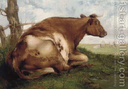 The recumbent cow by (after) Thomas Sidney Cooper - Reproduction Oil Painting