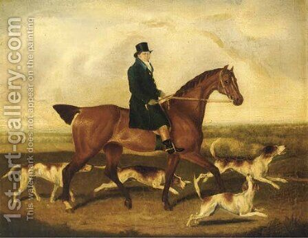 Mr. W. Perry on his favourite mare Betsy by (after) Thomas Weaver - Reproduction Oil Painting
