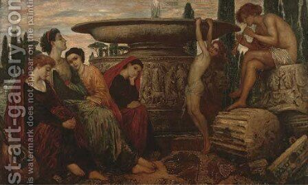 The Grecian fountain by (after) Valentine Cameron Prinsep - Reproduction Oil Painting