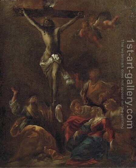 The Crucixifion by (after) Valerio Castello - Reproduction Oil Painting