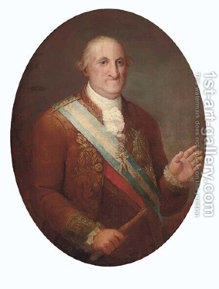 Portrait of King Charles IV of Spain by (after) Vicente Lopez Y Portana - Reproduction Oil Painting