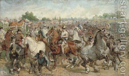 The horse fair by (after) Willam Powell Frith - Reproduction Oil Painting