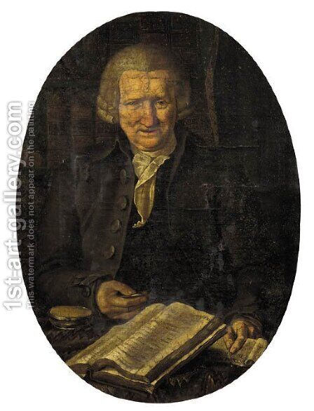 Portrait of a gentleman, aged 74 by (after) Willem Bartel Van Der Kooi - Reproduction Oil Painting