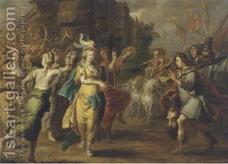 The Triumph of David by (after) Willem Van, The Elder Herp - Reproduction Oil Painting
