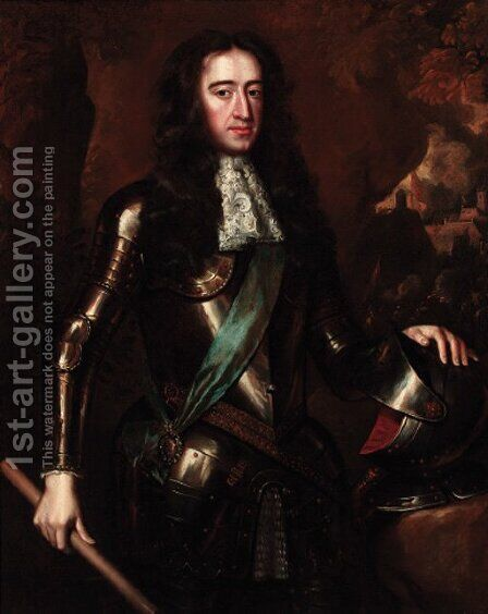 Portrait of the Prince of Orange, later King William III (1650-1702) by (after) William Wissing Or Wissmig - Reproduction Oil Painting