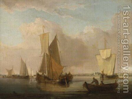 Dutch shipping off the coast by (after) William Anderson - Reproduction Oil Painting