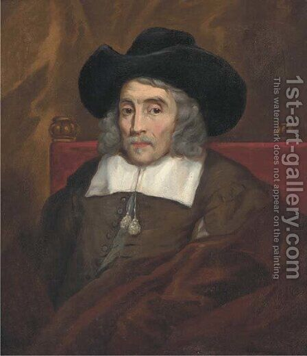 Portrait of Lord Sherborne (1594-1653) by (after) William Dobson - Reproduction Oil Painting