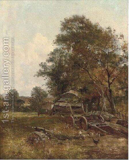 A summer's afternoon on the farm by (after) William Frederick Witherington - Reproduction Oil Painting