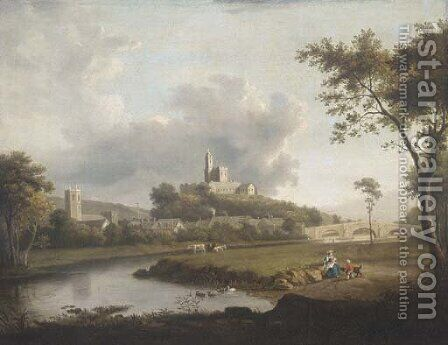 Hornby Castle by (after) William Marlow - Reproduction Oil Painting