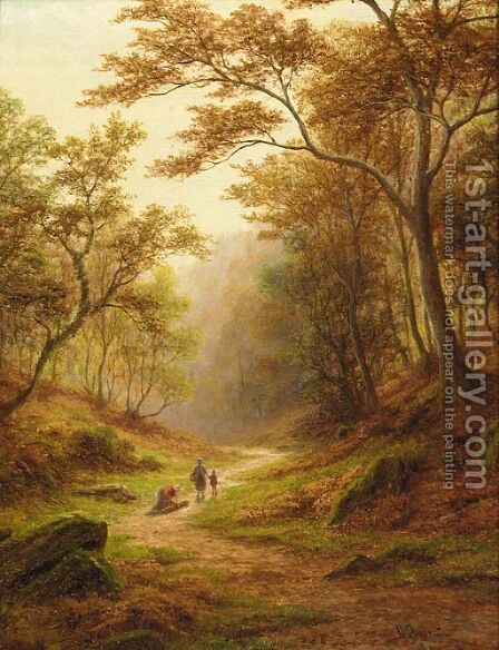 Woodland Glade, near Aysgarth, Wensleydale by (after) William Mellor - Reproduction Oil Painting
