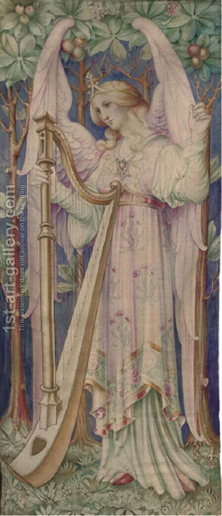 Divine reverie by (after) William Morris - Reproduction Oil Painting