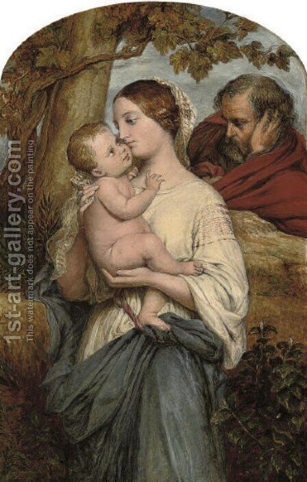 The holy family by (after) William Mulready - Reproduction Oil Painting