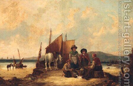 Counting the Catch by (after) William Joseph Shayer - Reproduction Oil Painting
