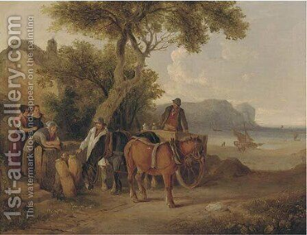 The daily rounds by (after) William Joseph Shayer - Reproduction Oil Painting