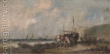 Unloading the catch by (after) William Joseph Shayer - Reproduction Oil Painting