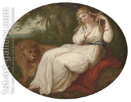 Una and the lion by (after) Kauffmann, Angelica - Reproduction Oil Painting
