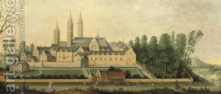 A view of Egmond Abbey 2 by Claes Jacobsz. van der Heck - Reproduction Oil Painting