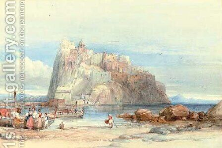 Ischia, Italy by Clarkson Stanfield - Reproduction Oil Painting