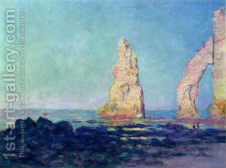 Aiguille d'Etretat, maree basse by Claude Oscar Monet - Reproduction Oil Painting